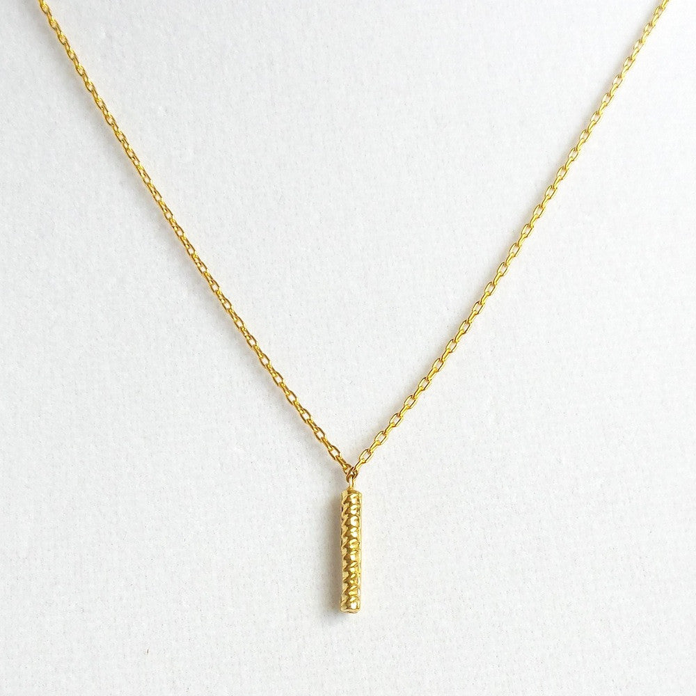 Mini Gold Steel Rod Pendant Necklace