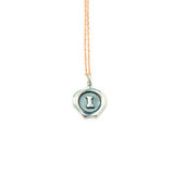 Small Silver Seal Necklace *click for more letters