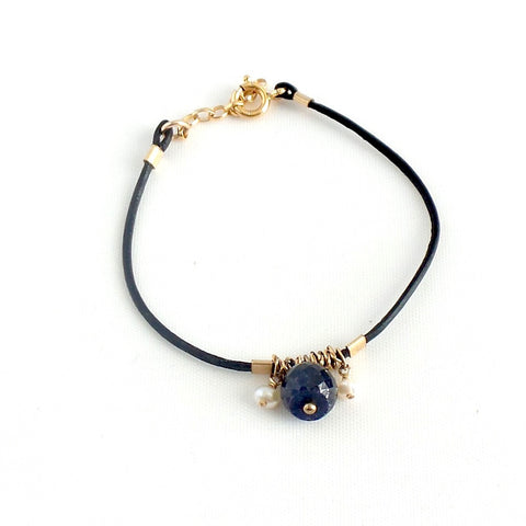 Stone Leather Bracelet *click for more colors