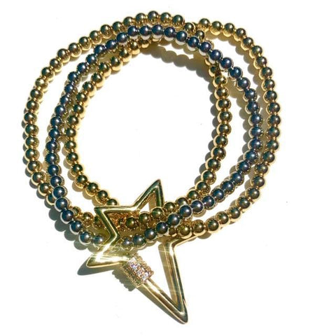 Star Beaded Bracelet Stack