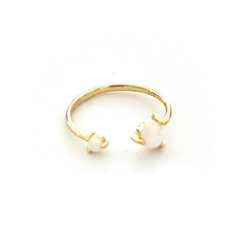 Twisted Golden Opal Ring - Estilo Concept Store