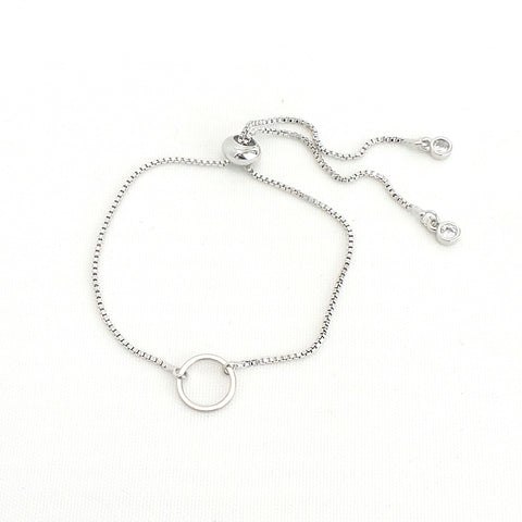 Knox Silver Sliders Bracelet - Circle