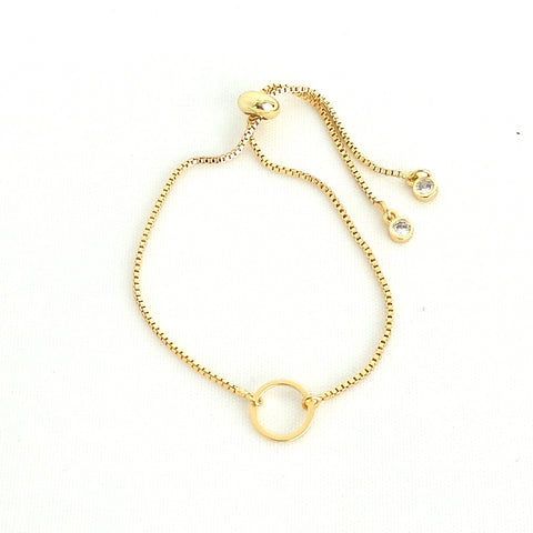 Twilight Gold Slider Bracelet - Circle