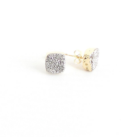 Druzy Square Stud Earrings *click for more colors