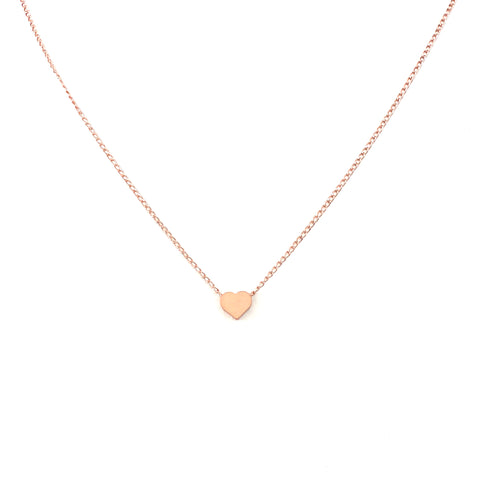 Petite Rose Gold Heart Necklace