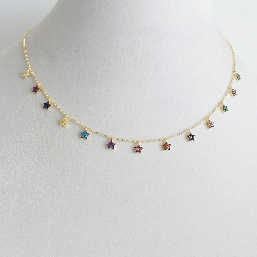 Multicolor Star Charms Necklace