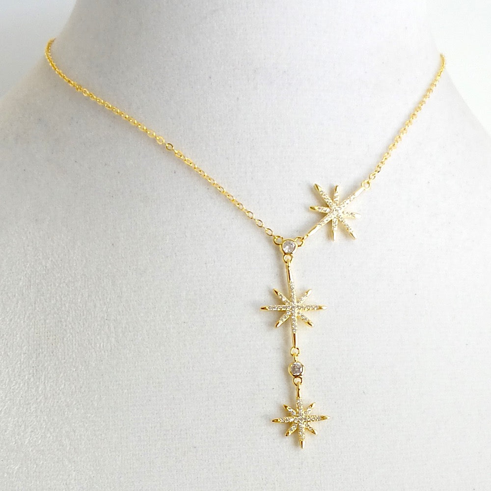Sunburst North Star Y-Necklace *click for more colors - Estilo Concept Store