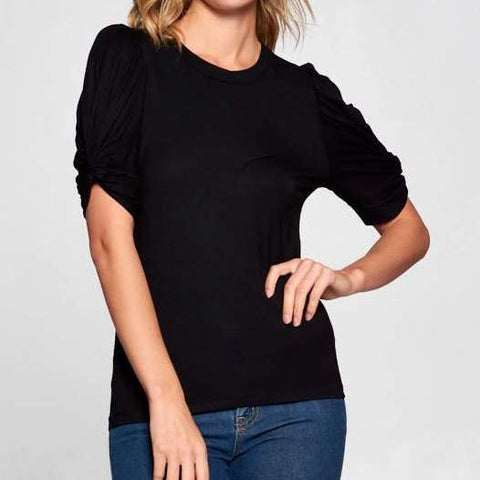 Black Puff Sleeve Top - Estilo Concept Store