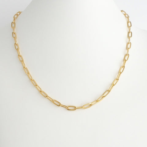 Flat Open Link Chain Necklace