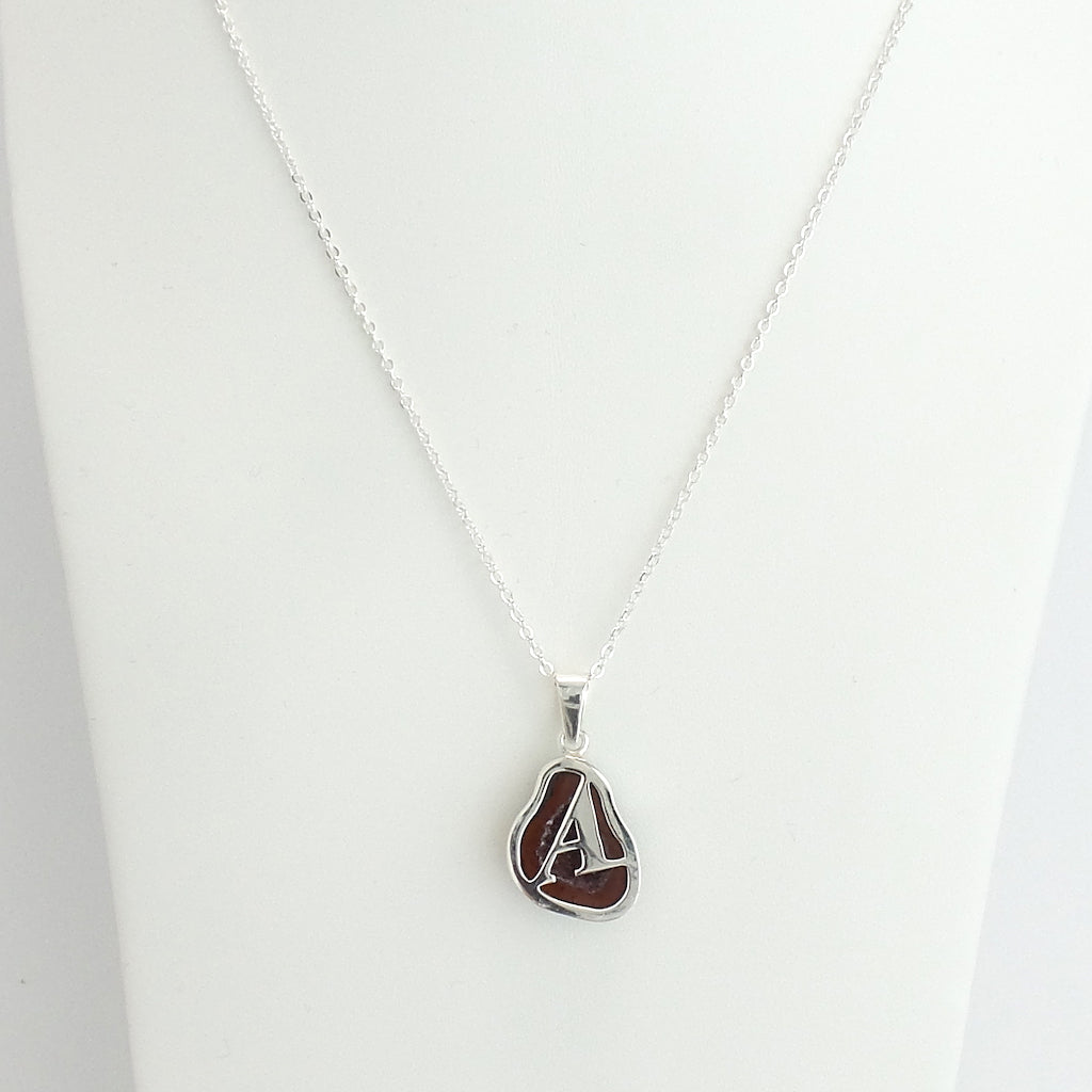 Sterling Silver Geode Initial Necklace - Estilo Concept Store