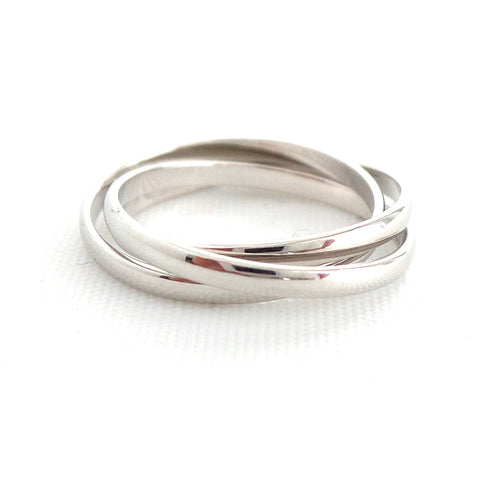 Triple Band Silver Ring - Estilo Concept Store