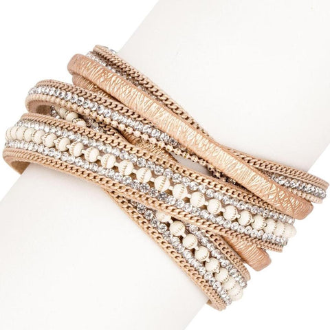 Hilton Double Wrap Gold Magnetic Bracelet