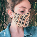 Tribal Botanical Dyed Cotton Face Mask - Estilo Concept Store