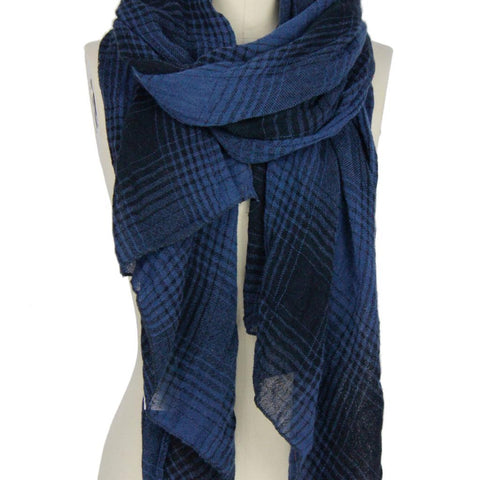 Two Toned Faded Plaid Scarf - Estilo Concept Store