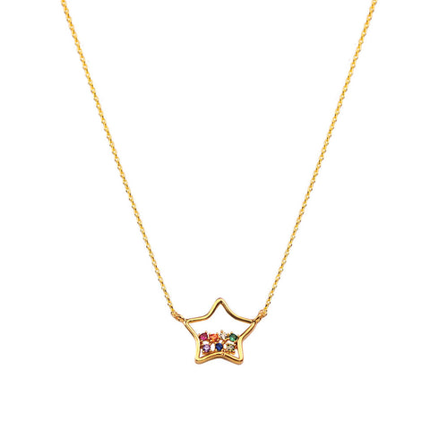 Gold Colored Star Necklace