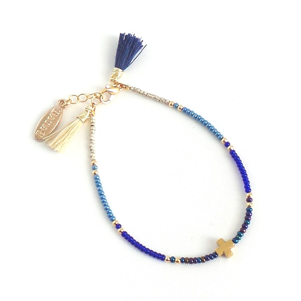 Seed Crystal Bracelet with Charm *click for more options - Estilo Concept Store