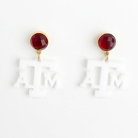 Texas A&M Earrings - Estilo Concept Store