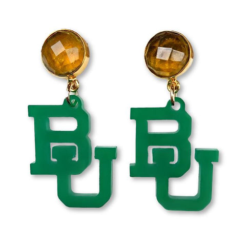 Baylor BU Earrings