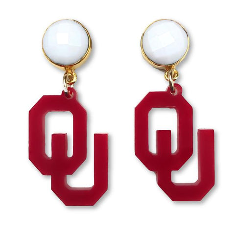 Oklahoma OU Earrings - Estilo Concept Store