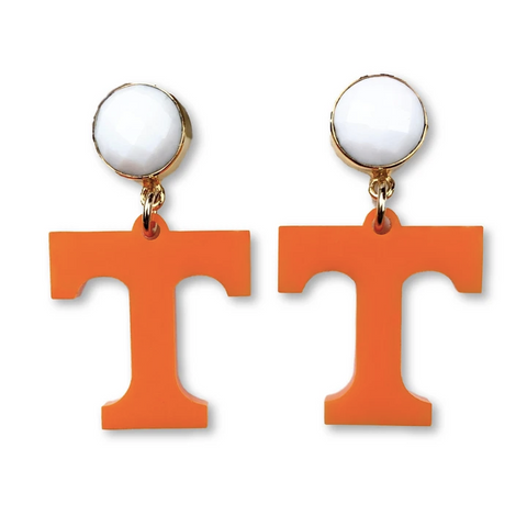 Tennessee Orange T Earrings - Estilo Concept Store