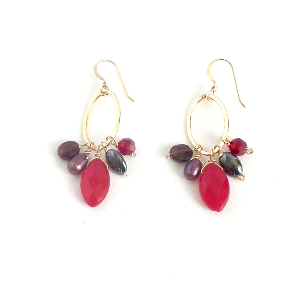 Red Pendant Earrings - Estilo Concept Store