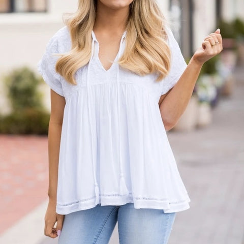 The Beth White Top