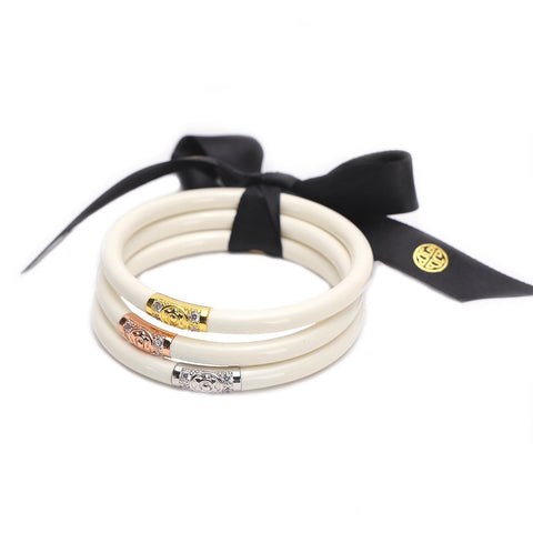 Three Kings IVORY All Weather Bangles by Budha Girl