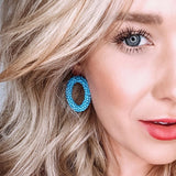 Camille Sea Blue Earrings - Estilo Concept Store