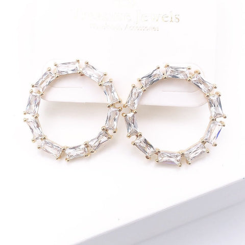 Crystal Circle Earrings - Estilo Concept Store