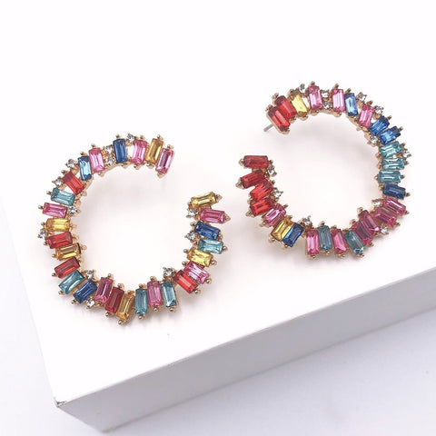 Rainbow Round Earrings - Estilo Concept Store