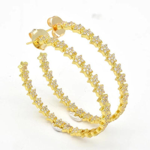 Star Crystal Hoop Earrings - Estilo Concept Store