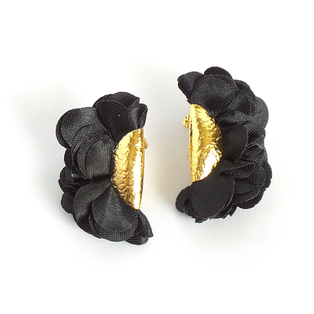 Audrey Black Stud Earrings