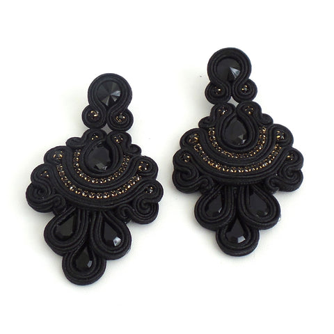Frida Black Earrings