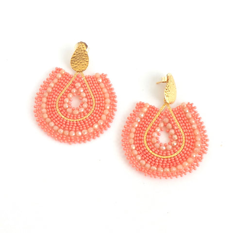 Mariana Drop Coral Earrings