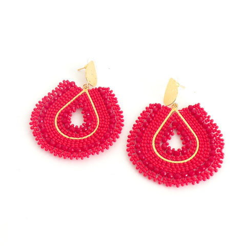 Mariana Drop Red Earrings