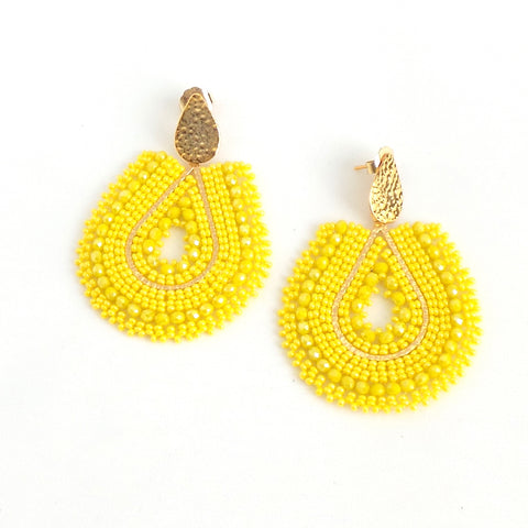 Mariana Drop Yellow Earrings