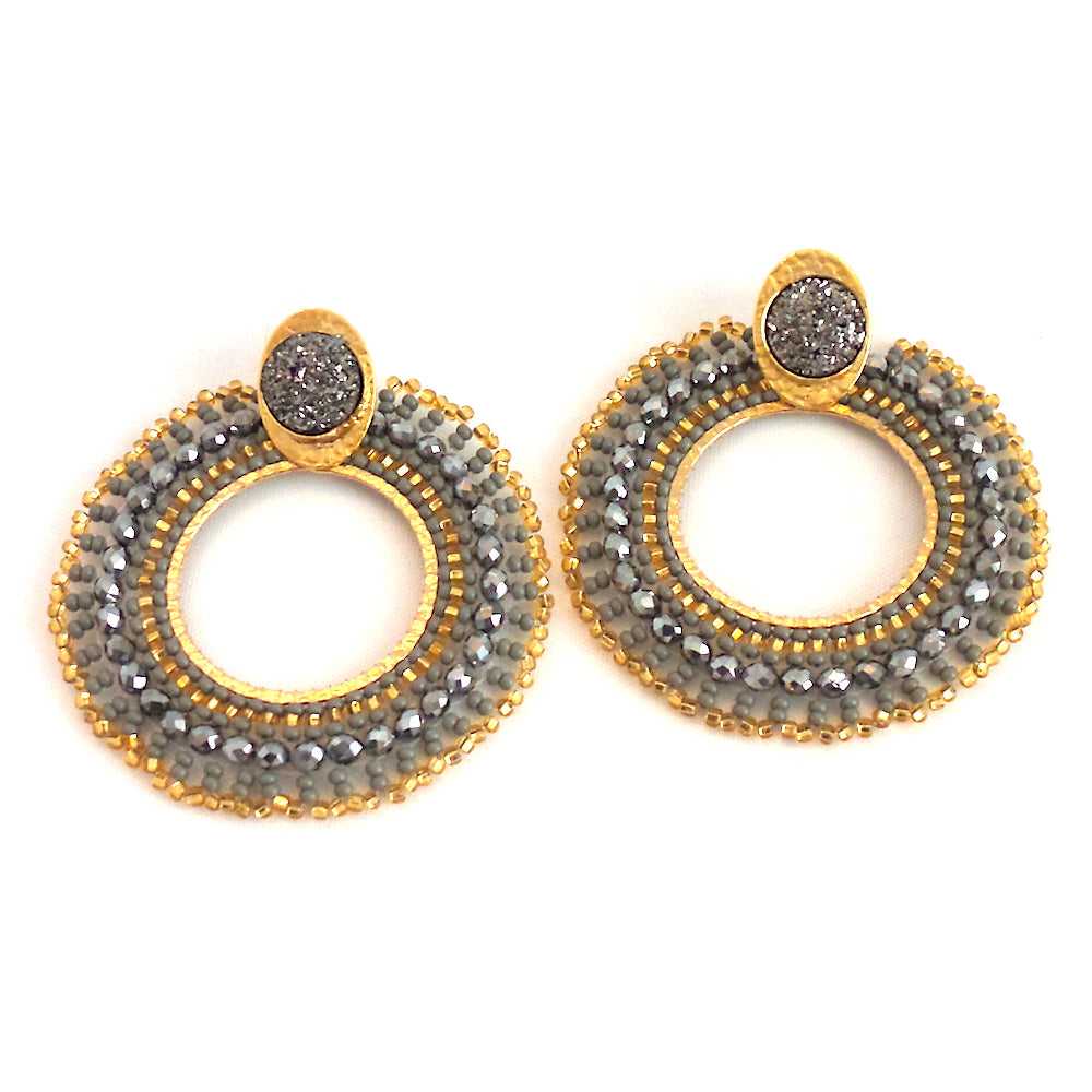 Mariana Round Earrings