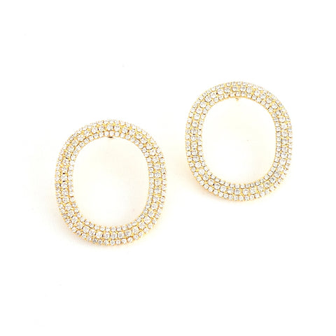 Oval Crystal Earrings - Estilo Concept Store