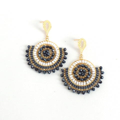 Rhea Charcoal Earrings