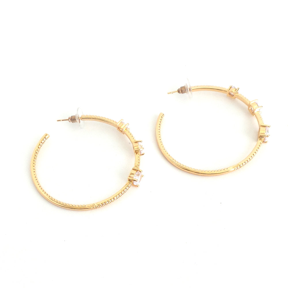 Rhinestone Hoop Earrings - Estilo Concept Store