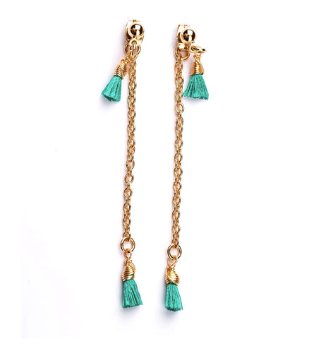 Double Tassel Earrings *click for more colors
