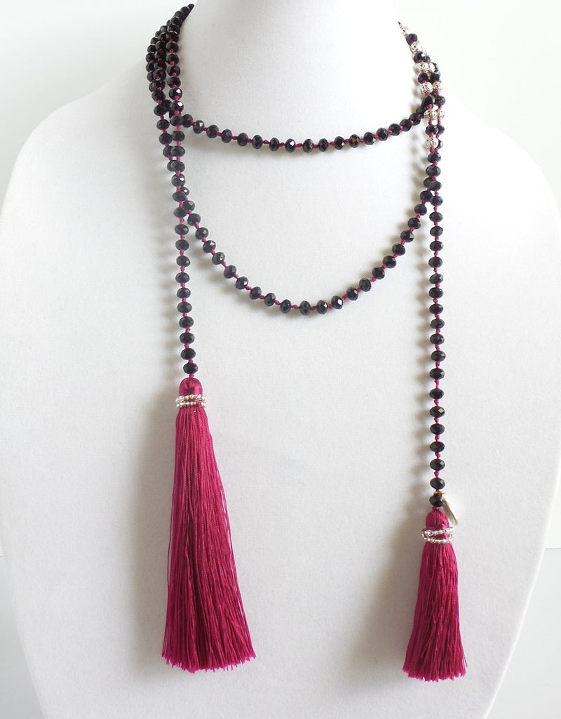 Crystal Wrap with Tassel 6mm *click for more colors