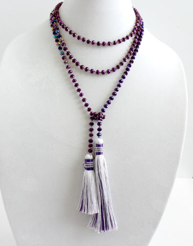 Crystal Wrap with Tassels 6mm *click for more colors - Estilo Concept Store