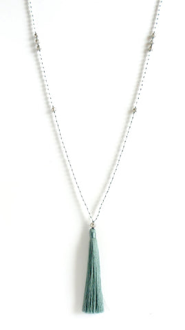 Denim II Long Tassel Necklace *click for more colors