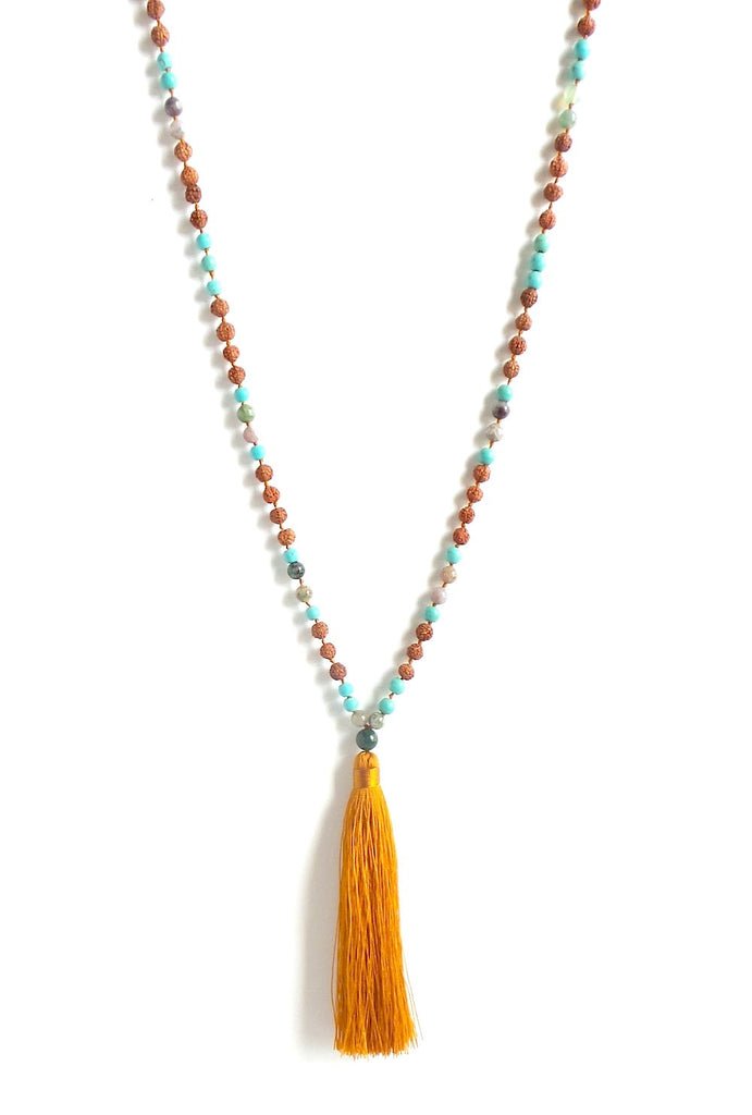 Ganitri Turquoise Tassel Necklace *click for more colors