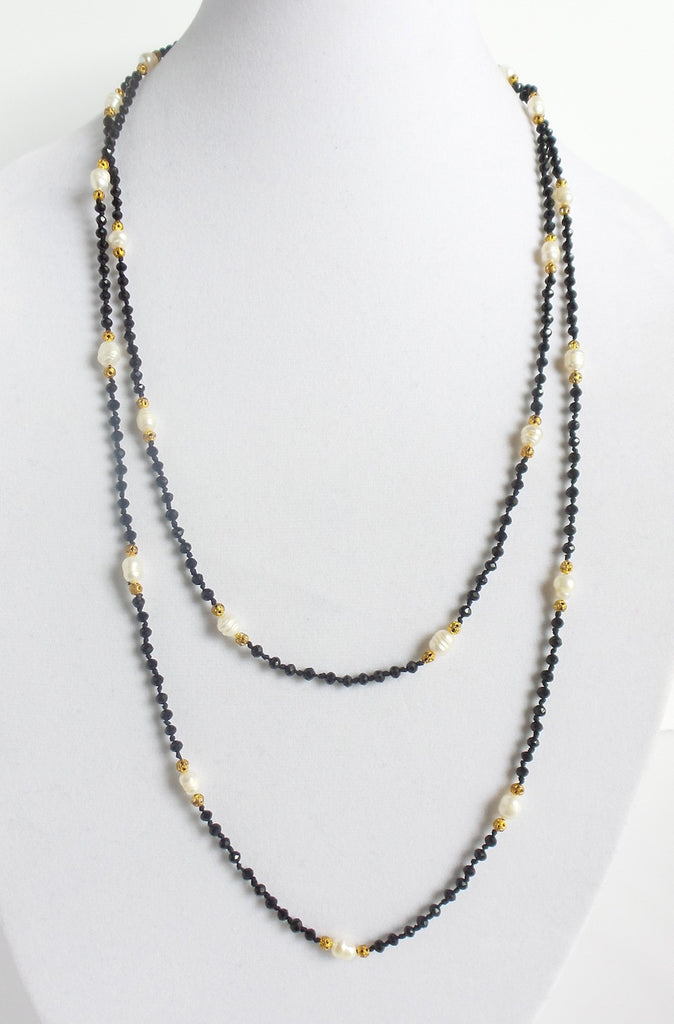 Super Long Layering Necklace with Pearls *click for more colors