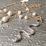 Snake with Pearls Necklace