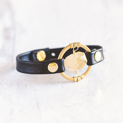 Be the Light Bracelet - Brushed Gold
