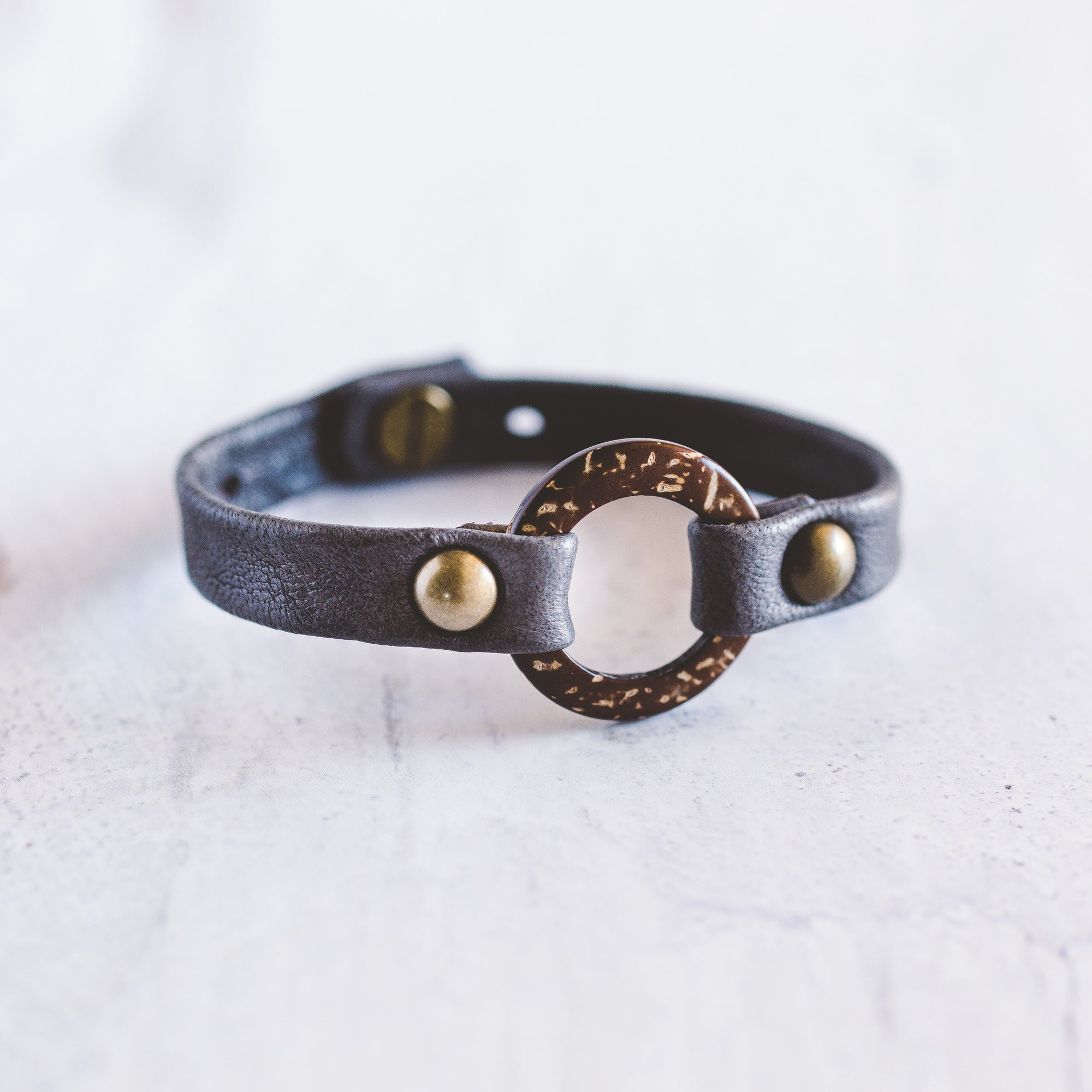 Circle of Love Bracelet - Antique Brass