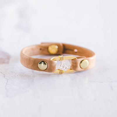 Desert Rose Bracelet - Gold - Clear Quartz